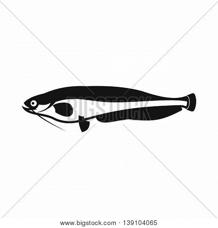 Atlantic mackerel, Scomber scombrus icon in simple style isolated vector illustration