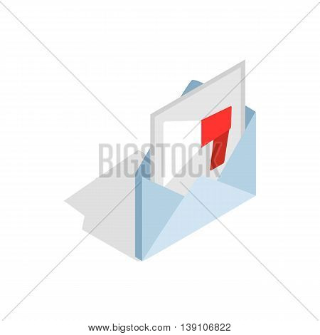 Audio message icon in isometric 3d style isolated on white background. Sound symbol