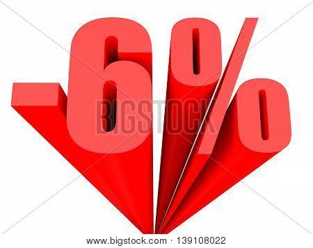 Discount 6 Percent Off Sale.