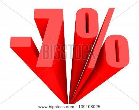 Discount 7 Percent Off Sale.