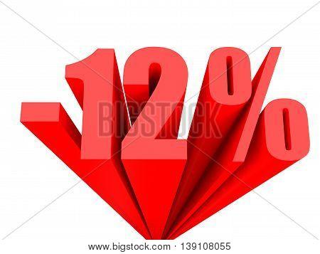 Discount 12 Percent Off Sale.