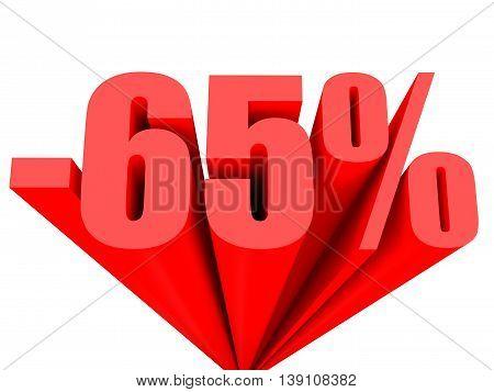 Discount 65 Percent Off Sale.