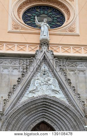 Saint Francesco Cathedral exterior detail. Gaeta Italy