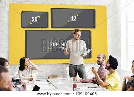 Television Resolution Multimedia Technology Concept