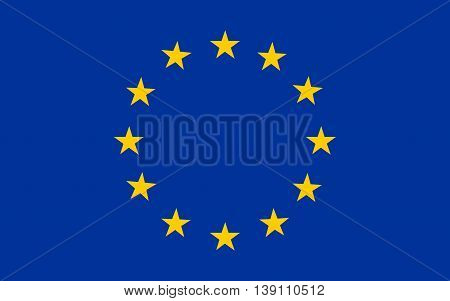 Flag of European union  color and size original vector