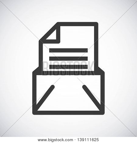 Silhouette icon concept represented by black document. Isolated and shiny illustration.