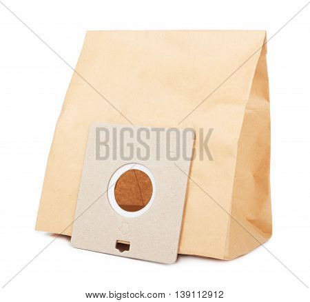 garbage bag for a vacuum cleaner isolated on white background