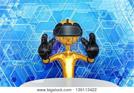 Virtual Reality VR Glasses Goggles  Headset Device Concept 3D Illustration