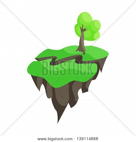 Natural disaster insurance. Earthquake icon in cartoon style isolated on white background
