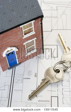 House With Keys And Plans