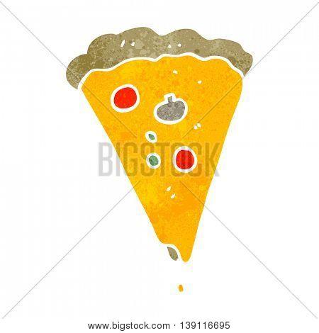 freehand retro cartoon pizza