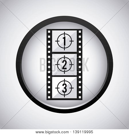 Movie concept represented by film strip icon. Isolated illustration