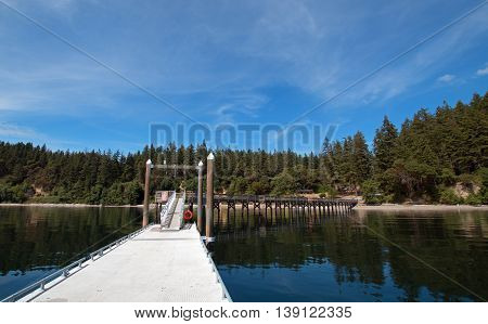Joemma Beach State Park Boat Dock near Tacoma Washington State USA