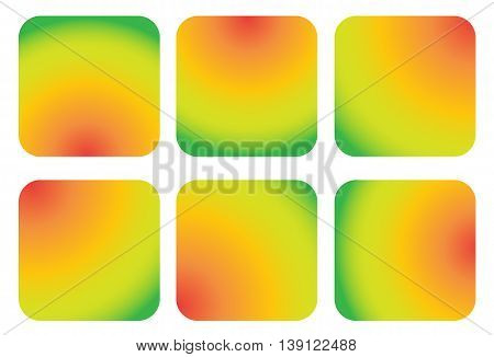 Colorful Shiny Smooth Gradient Color Natural Background for Mobile Applications. Vector Illustration