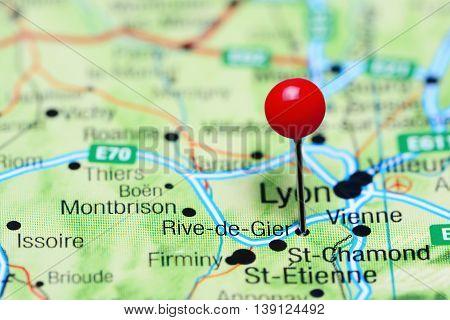 Rive-de-Gier pinned on a map of France