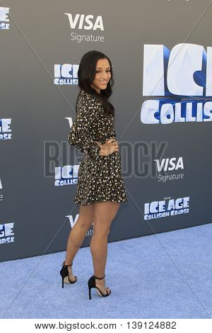 LOS ANGELES - JUL 17:  Danielle Vega at the 'Ice Age: Collision Course' at the 20th Century Fox Lot on July 17, 2016 in Los Angeles, CA