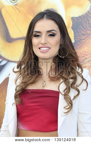 LOS ANGELES - JUL 17:  Vanessa Vasquez at the 'Ice Age: Collision Course' at the 20th Century Fox Lot on July 17, 2016 in Los Angeles, CA