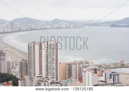 SAO VICENTE BRAZIL - MAY 26 2016: View from Morro do Itararé