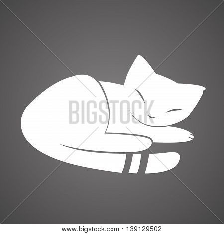 A vector image of a sleeping cat.