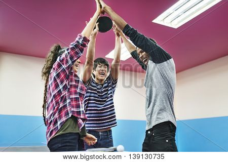 People Friendship Cheerful Lifestyle Concept