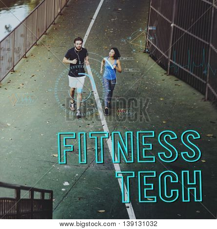 Fitness Tech Healthcare Wellness Innovation Concept