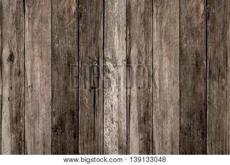 Dark old dirty wood panel texture background
