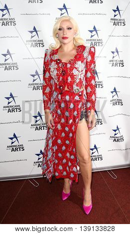 NEW YORK-OCT 19: Lady Gaga attends the 2015 National Arts Awards at Cipriani 42nd Street on October 19, 2015 in New York City.