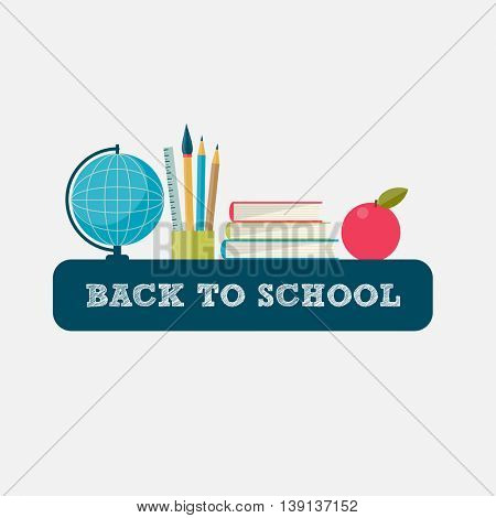Back to School landscape background