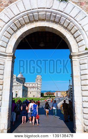 Piazza Dei Miracoli In Pisa, Italy