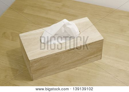Tissue Paper In Wooden Box