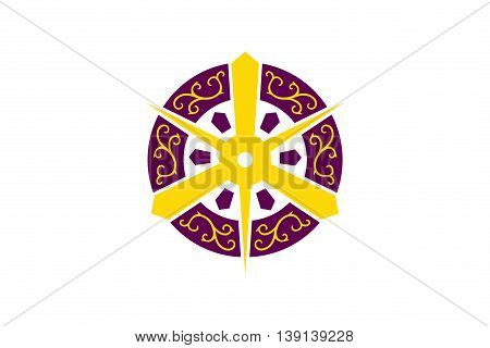 Japan Kyoto prefecture Kyoto city flag illustration