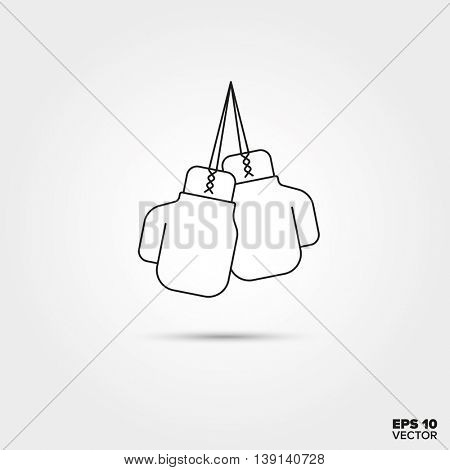 Boxing gloves Line Icon Vector