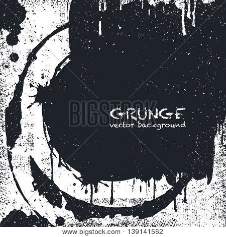 Grunge Black and White Distress Texture . Scratch Texture . Dirty Texture . Wall Background .Vector Illustration.