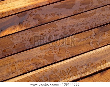 Background pattern nature detail of beautiful teak wood texture as decorative furniture wall panel surface