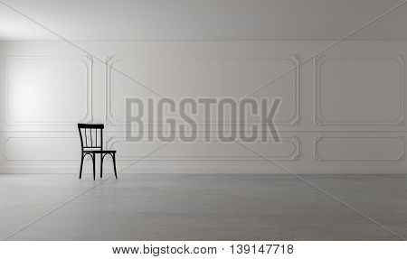 Classic & Loft Living / 3D Render Image