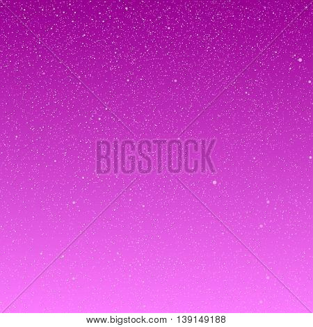 Vector background with snowflakes. Pink ice storm.