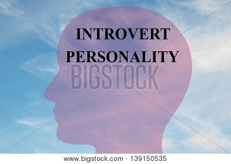 Introvert Personality Mental Concept