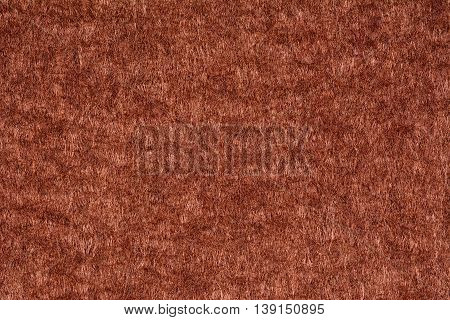 Brown woolen fabric texture background, close up