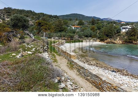 Ruins in Archaeological site of Aliki, Thassos island,  East Macedonia and Thrace, Greece