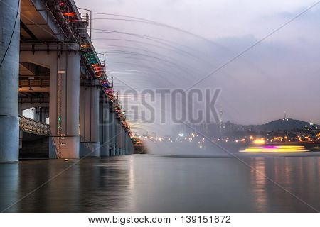 Banpo Rainbow Bridge Fountain