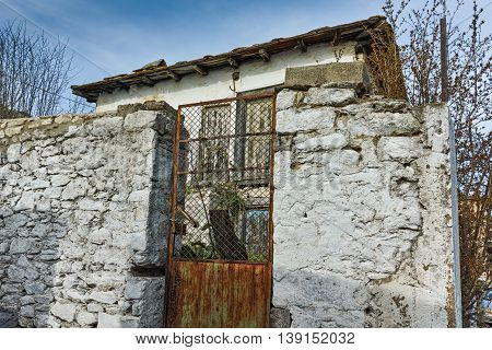 Old stone house in the village of Theologos,Thassos island, East Macedonia and Thrace, Greece