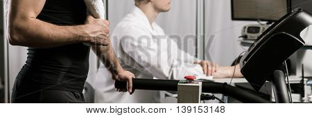 Athlete Checking His Aerobic Capacity At Doctor's