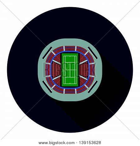 Tennis Stadium Aerial View Icon