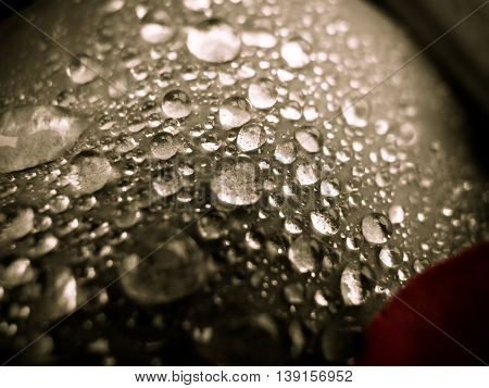 black and white drops of water background
