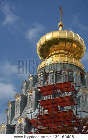 Dome of New Jerusalem Monastery near Mosocw, Russia