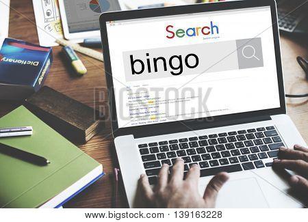 Bingo Game Luck Gambling Leisure Recreation Jackpot Concept