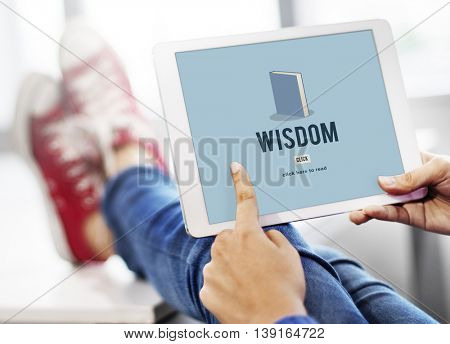 Wisdom Education Knowledge Book Study Concept