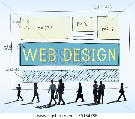 Web Design Layout Technology Website Internet Concept