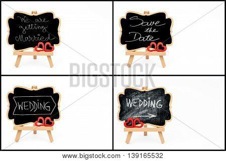 Photo Collage Of Wedding Symbols