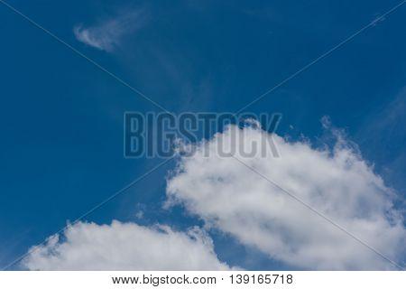 Beautiful Light clouds blue sky in sunshine day